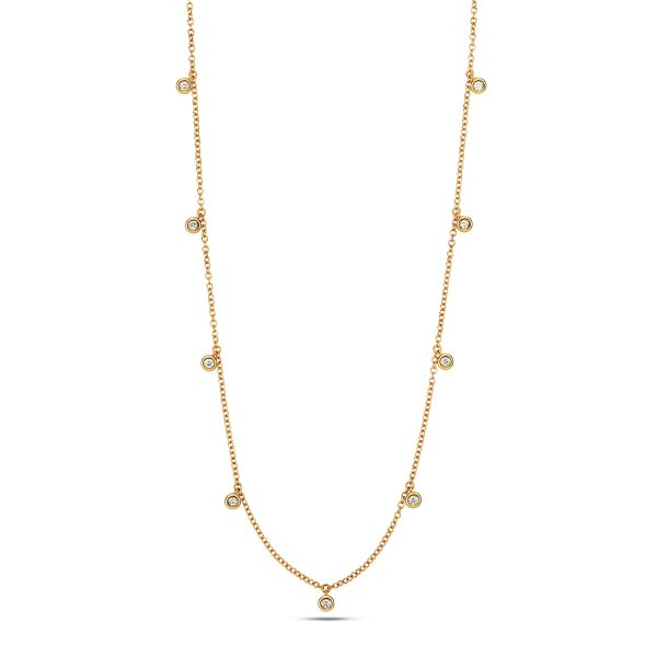18 carat yellow gold diamond necklet