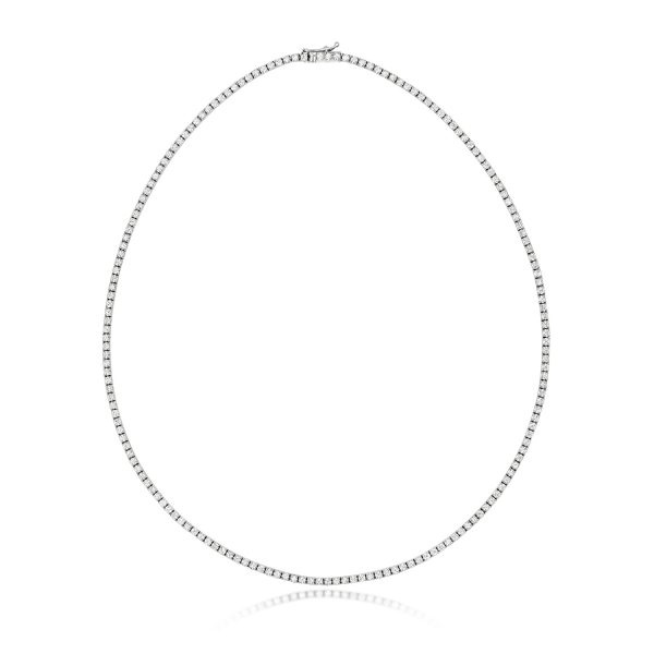 18 carat white gold diamond necklet