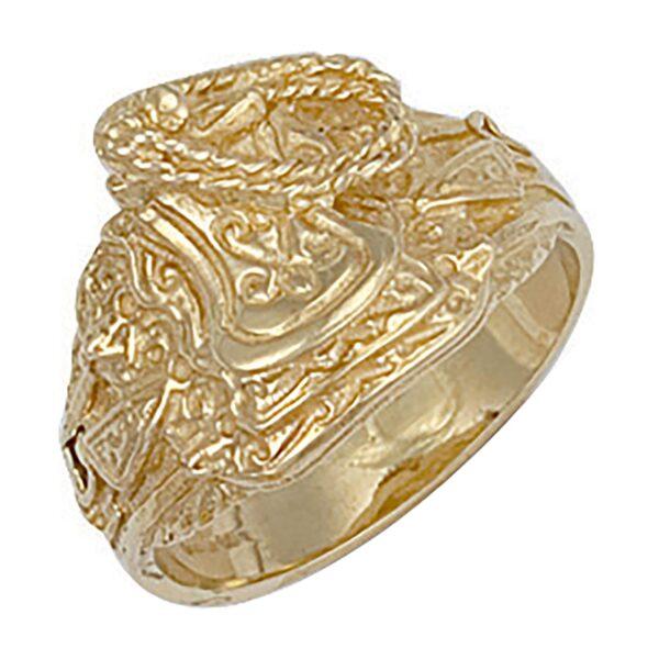 9 carat yellow gold saddle ring