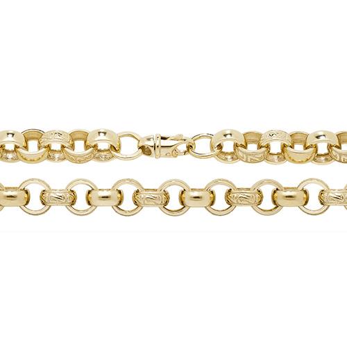 9 carat gold belcher bracelet