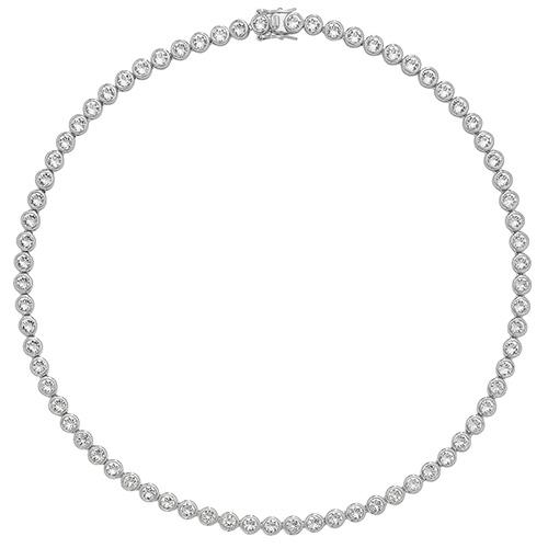 silver cz necklet