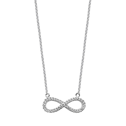 silver infinity pendant and chain necklace