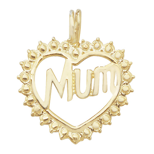9 carat yellow gold mum pendant