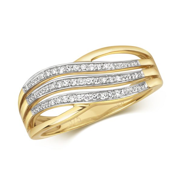 9 carat yellow gold diamond ring