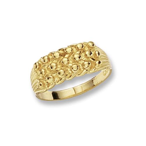 9 carat gold keeper ring