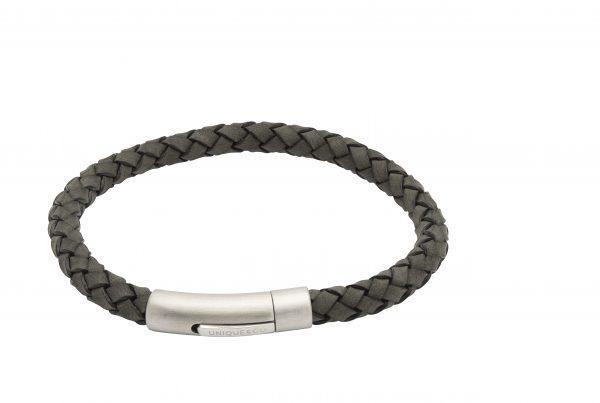 leather bracelet unique & co antique black