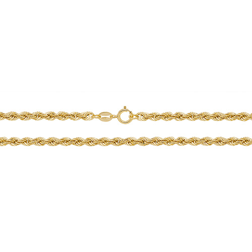 9 carat yellow gold rope bracelet