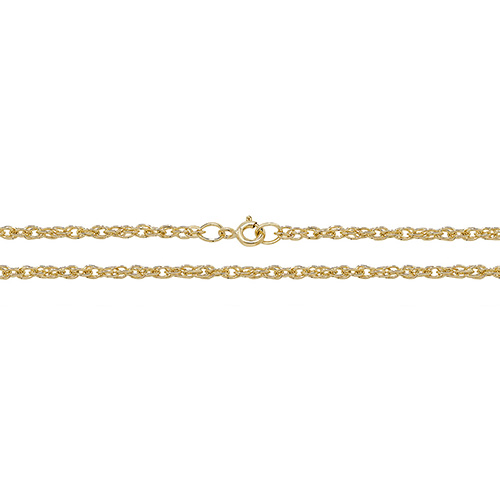 9 carat yellow gold prince of wales chain