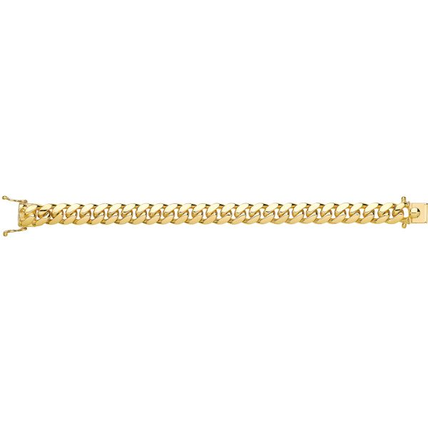 9 carat gold solid cuban bracelet