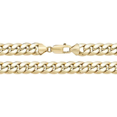 9 carat yellow gold cuban bracelet
