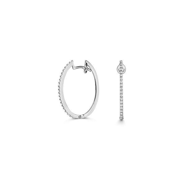 18 carat gold earrings diamond