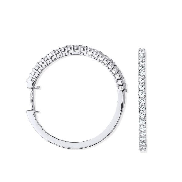18 carat white gold diamond earrings