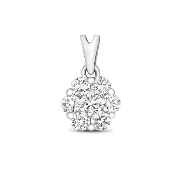 9 carat white gold diamond pendant