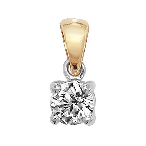 18 carat yellow gold diamond pendant