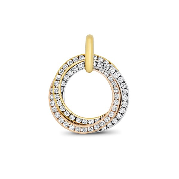 18 carat three gold diamond pendant