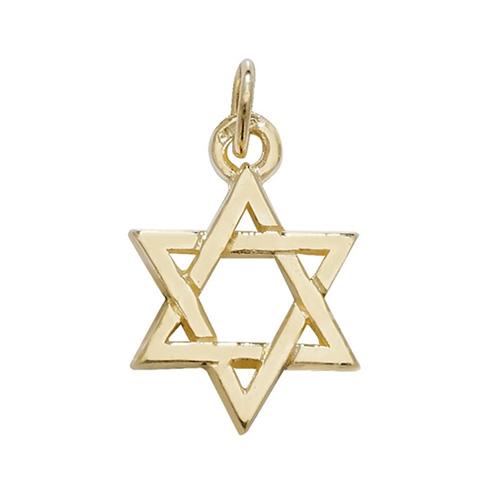 9 carat yellow gold star of david
