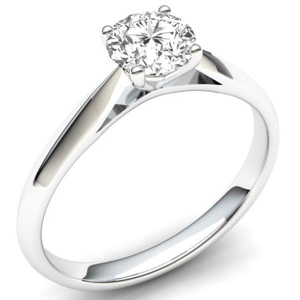 9 carat white gold diamond solitaire ring