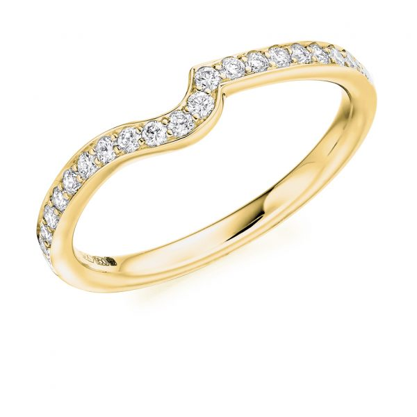 18 carat yellow gold diamond wedding ring