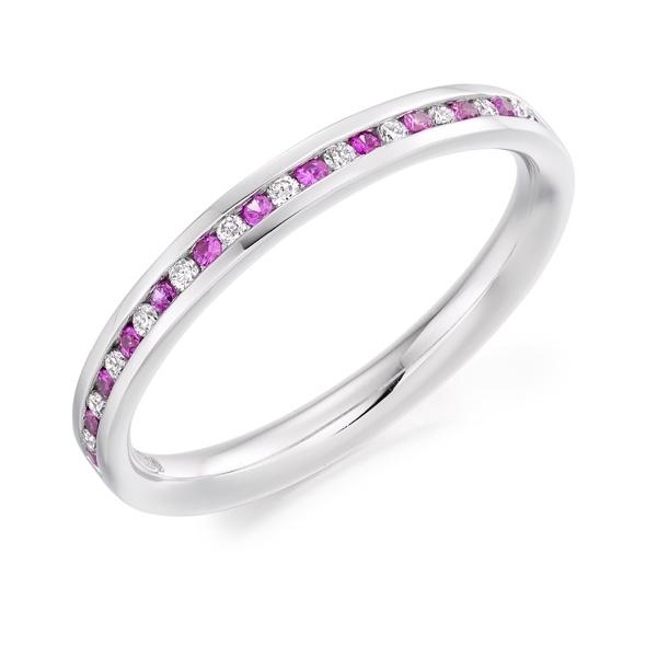 Diamond and Gemstone Eternity Rings