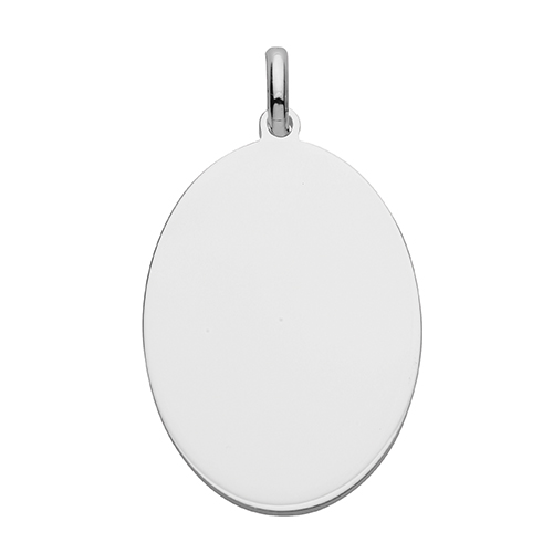 Sterling Silver Personalised Oval Tag