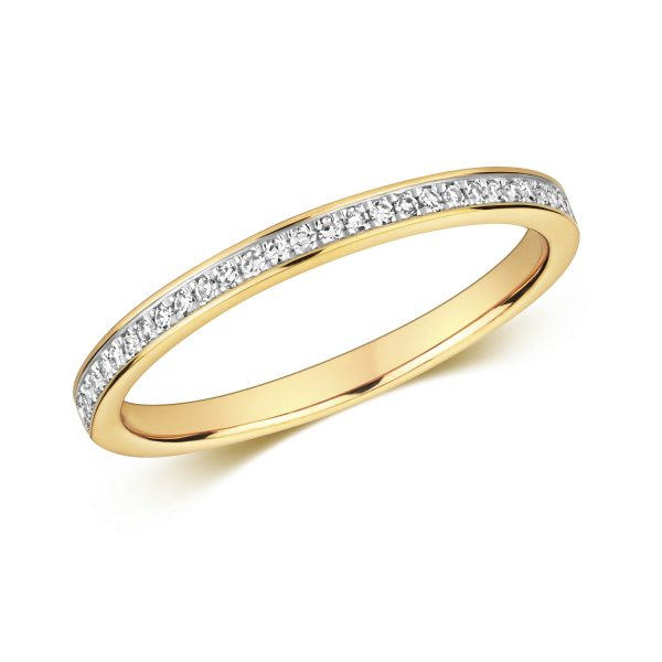 9 carat yellow gold diamond wedding ring 0.11 carats