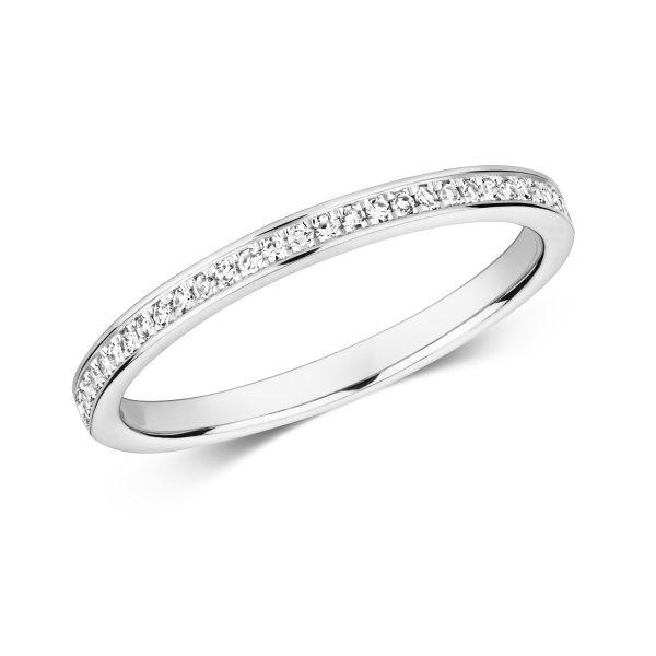 9 carat white gold diamond wedding ring