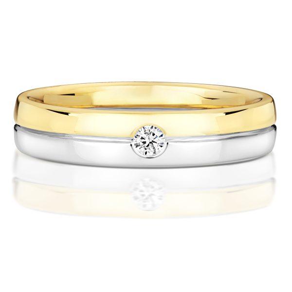 Mens Diamond Set Wedding Rings