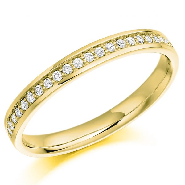 18 carat yellow gold diamond eternity ring
