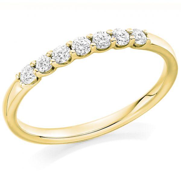 18 carat yellow gold diamond half eternity ring