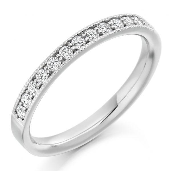 18 carat white gold diamond half eternity ring