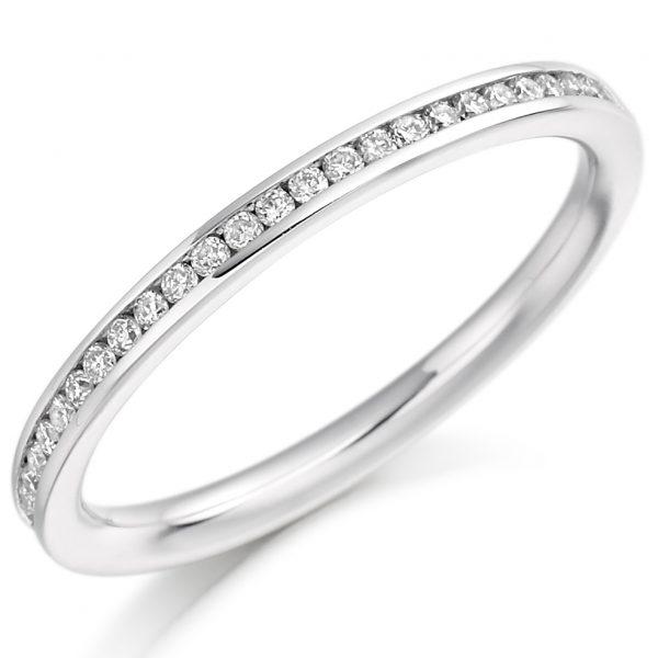 18 carat white gold diamond eternity ring