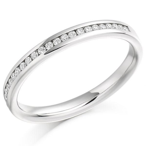 18 carat white gold eternity ring