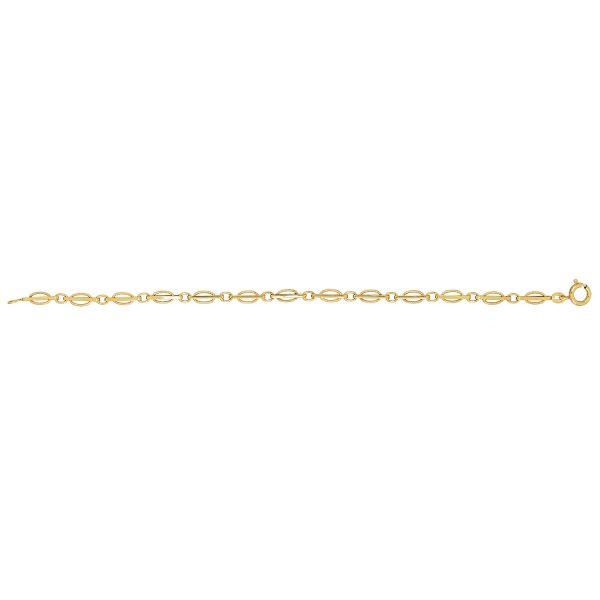 9 carat yellow gold fancy link bracelet