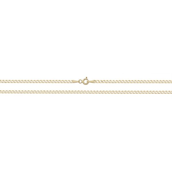 9 carat yellow gold anklet