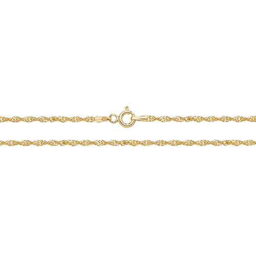 9 carat yellow gold singapore chain anklet