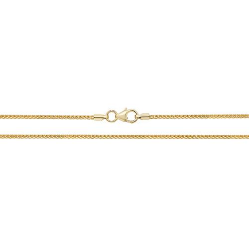 9 carat yellow gold spiga anklet