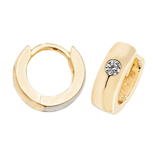 9 carat yellow gold huggie earrings