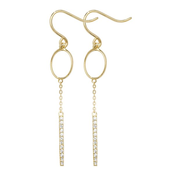 9 carat yellow gold fish hook earrings