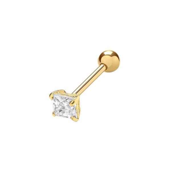 9 carat cz cartilage earring