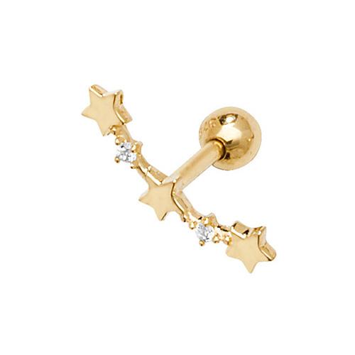 9 carat gold cartilage earring