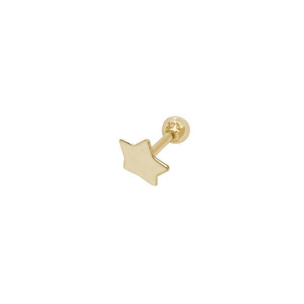 9 carat gold star cartilage earring
