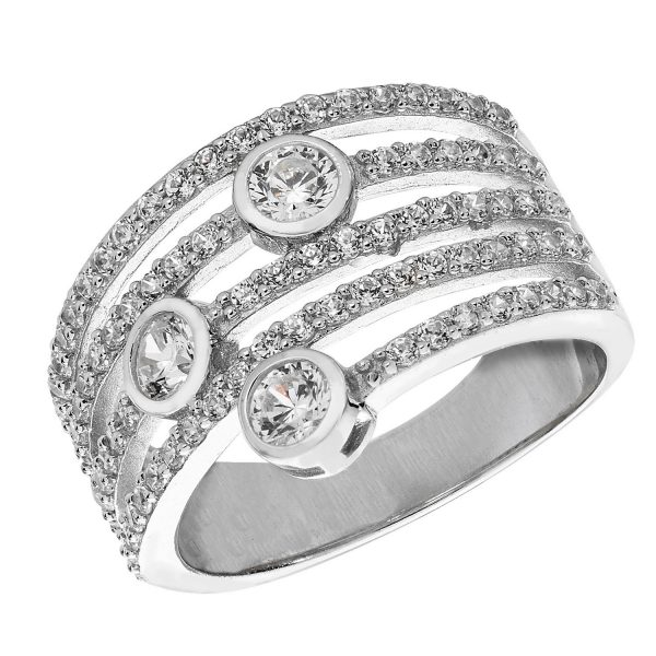 streling silver cz ring