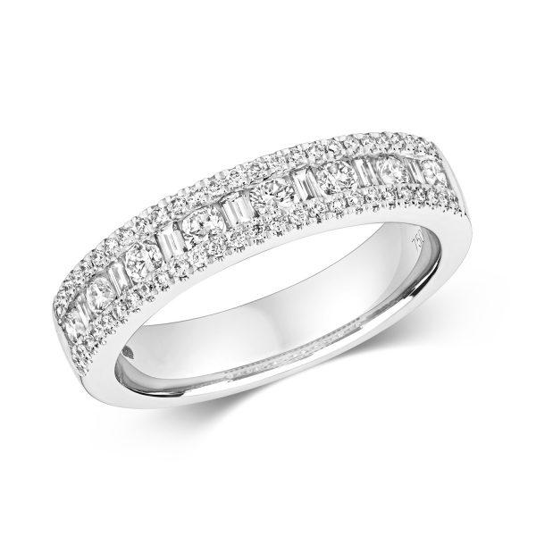 18 ct white gold diamond dress ring
