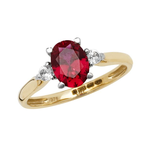9m carat gold created ruby ring