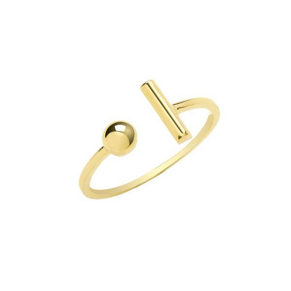 9 carat yellow gold ring