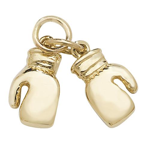 9 carat yellow gold boxing glove pendant
