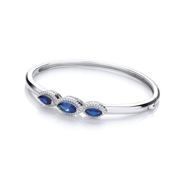 sterling silver cz bangle