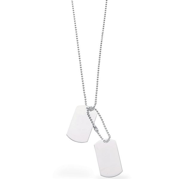 sterling silver dog tags and chain